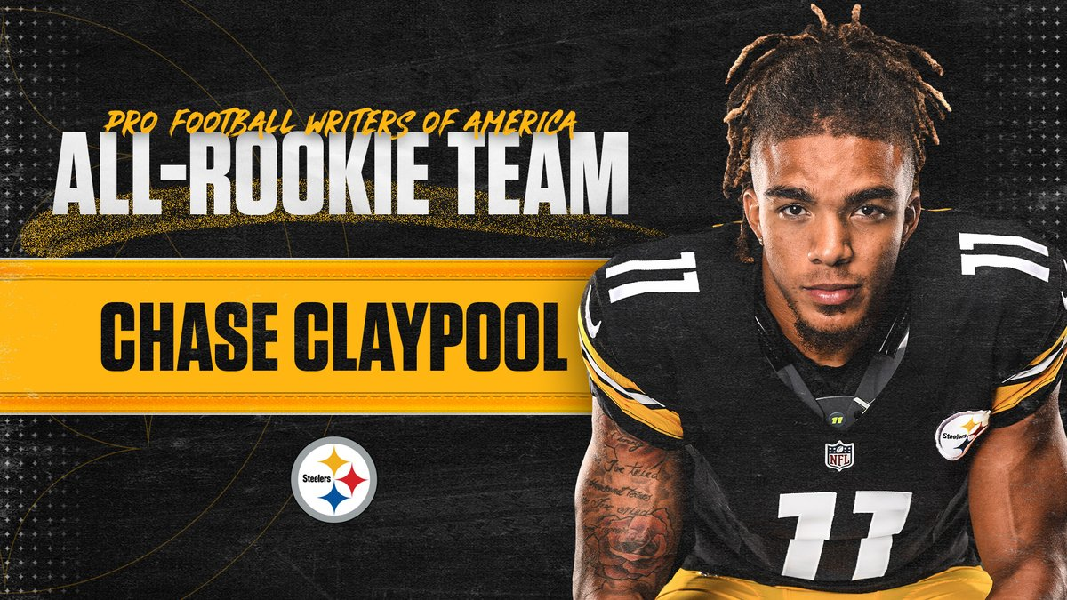 Congratulations to @ChaseClaypool for being named to the @PFWAwriters All-Rookie Team!  📝:
