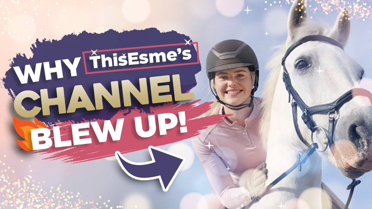 Do you ever look at those successful YouTubers and wonder how did they do it? 🙌  In my NEW video I'm jumping into @This_Esme_  #YouTube channel 🐎  Discover why TOP brands want to work with her and how a defined niche has supercharged her channel 💥  👉