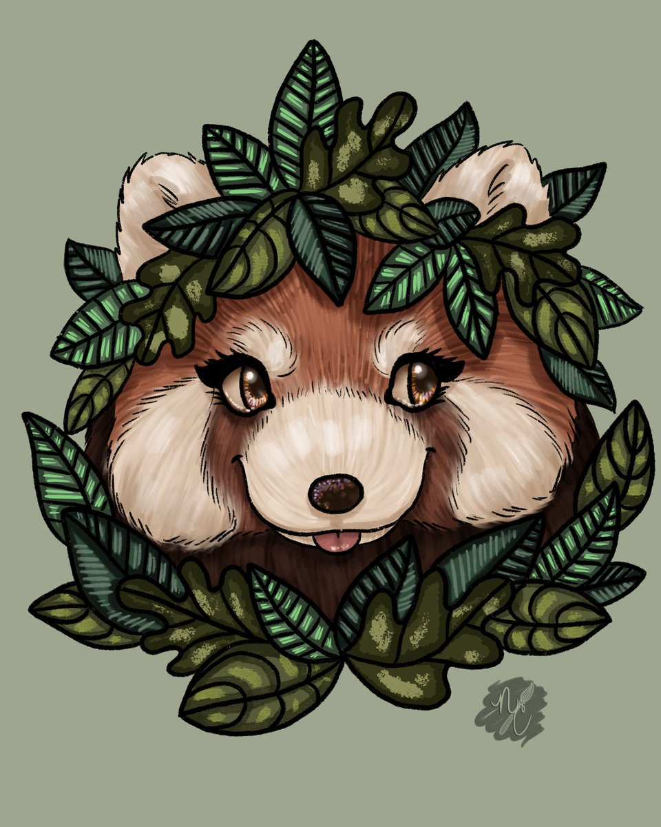 🌿🐾Red Panda🐾🌿  🐾Stickers and Prints available in bio!🐾  #RedPanda #etsy #procreate #art