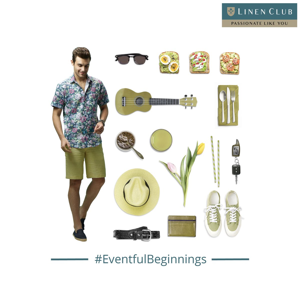 Make a start at a beautiful brunch to set the mood with a relaxed shirt paired with classy linen shorts from Linen Club. Find the Linen Club Store near you at   #EventfulBeginnings #Freshstart  #GoodStart #2021 #Newyear #LinenLifestyle #LinenClub