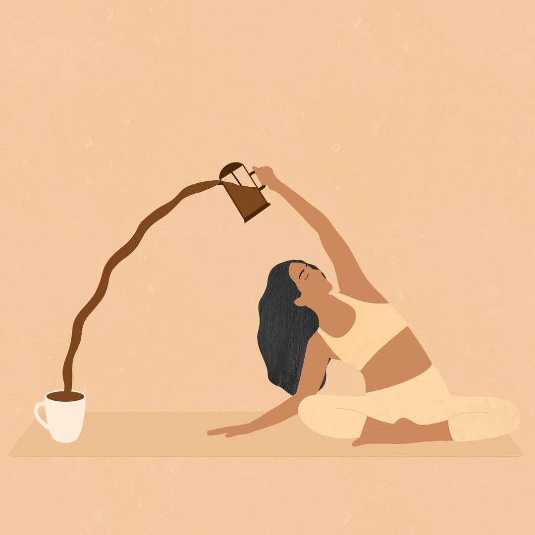Stretching into the week like... ☕️   We love sharing incredible work from #womenwhoillustrate ♥️ Tag your favorite #illustrationartists below! #womenempowerment #juliastration #repost