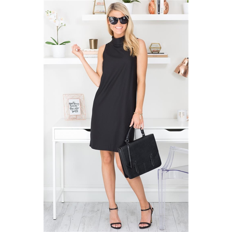 Rolling In Dress in Black  #fashion