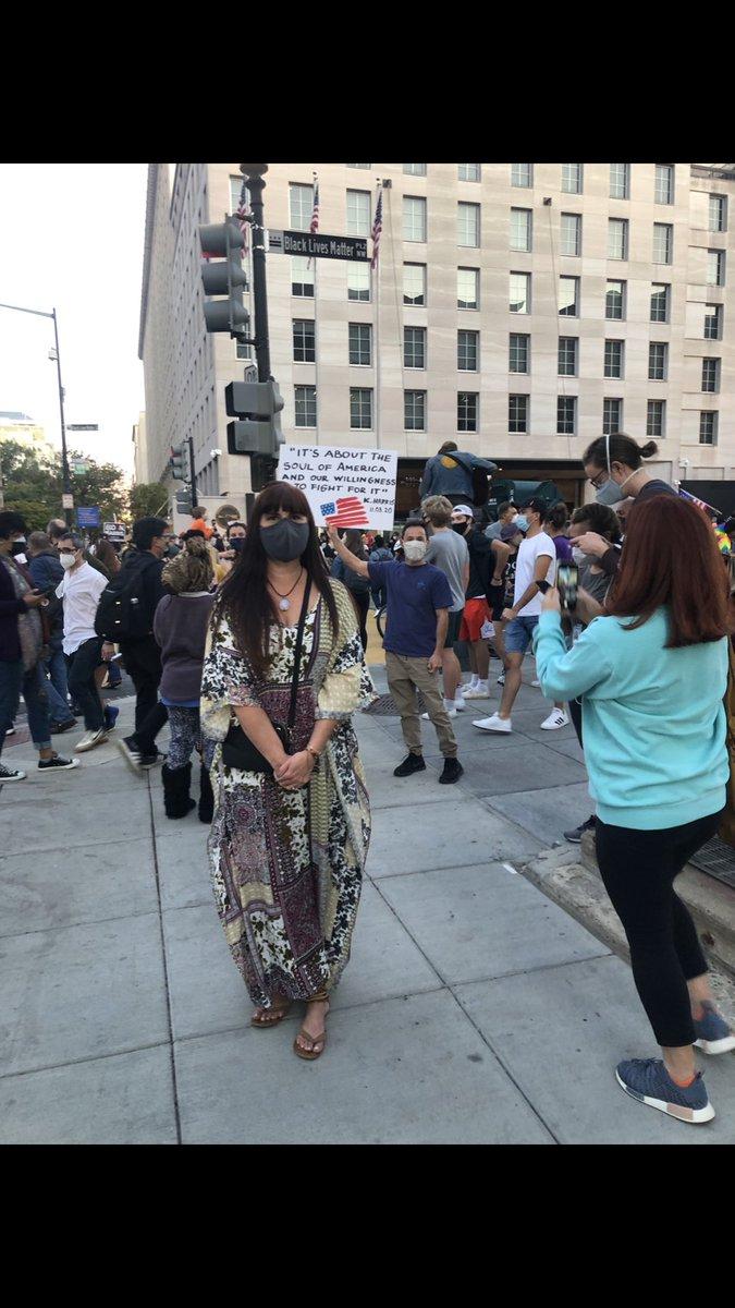 Last... on November 7th.. Black Lives Matter plaza celebrating #BidenHarris2020 #BidenHarrisInauguration it's been a long 4 years.
