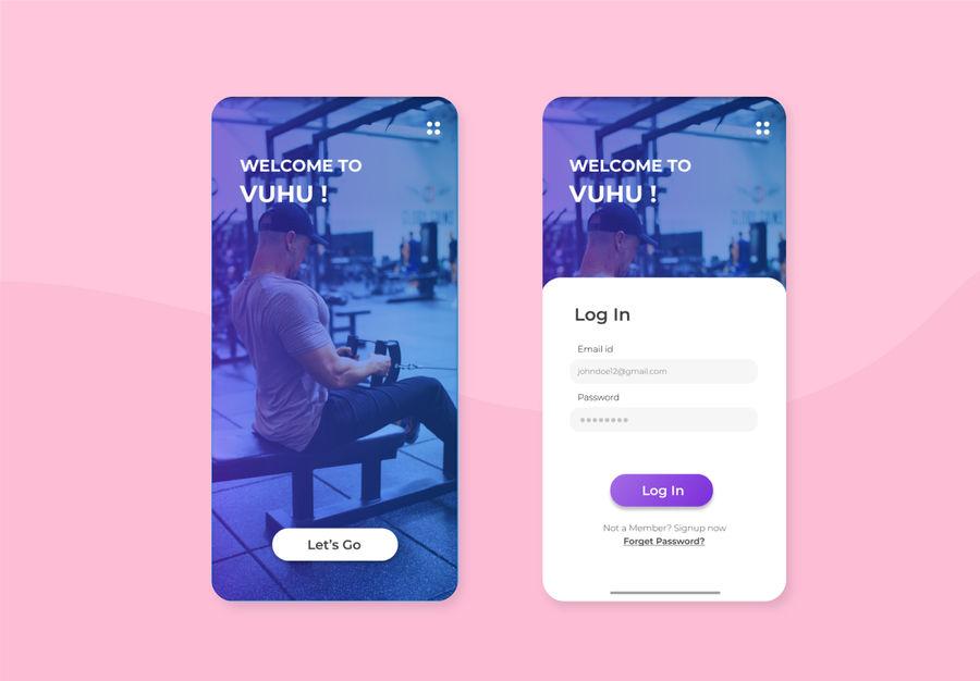 Ui  design for Gym app  #UI #uidesigner #NAMJOON #USA #BidenHarrisInauguration #WhiteHouse #TrumpsLastDay #SeasonsOfTrump #graphicdesigner #appdesign #gym #tuesdayvibe #NationalPopcornDay #IsSoOverrated #canceltheleavingcert2021
