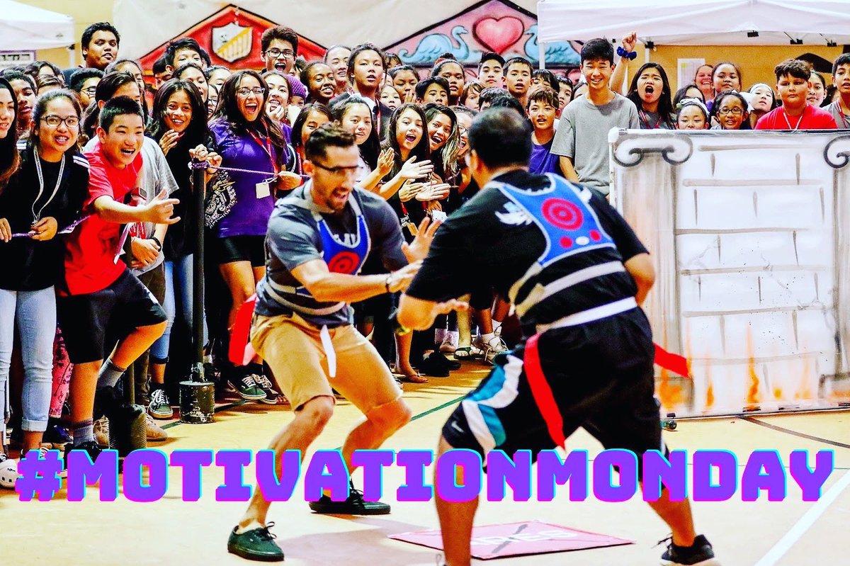 """#motivationmonday You have to ask yourself - """"Why can't every day be as epic as this?!?""""Just like Mr. Karwiel and Mr. Colmenares in the final round of Highlands Hunger Games 6: """"The Battle for Olympus!"""" back in 2018... you couldn't buy a better ending or a louder assembly!"""