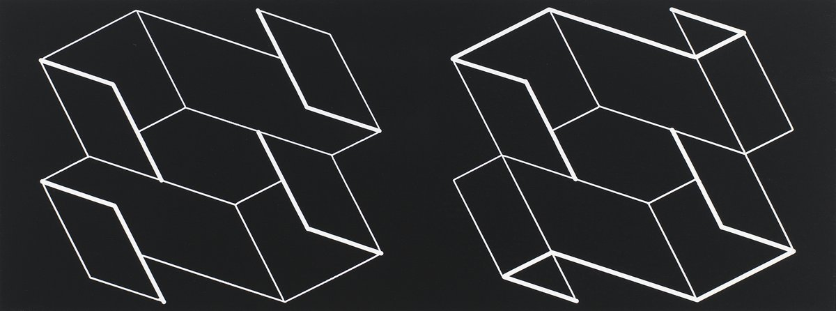 """""""Structural Constellation: Duo H"""" by Josef Albers is in """"Multiples, Inc."""" at Marian Goodman Gallery, New York, through February 27.  #josefalbers #structuralconstellation #multiplesinc @MarianGoodman https://t.co/92yo0kINTa"""