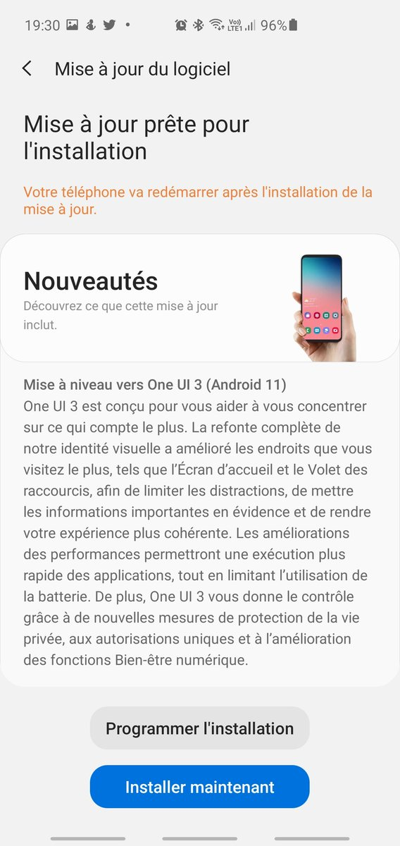 Mise à jour #OneUI3 #GalaxyS10Plus #GalaxyNote10Plus #GalaxyZFold2