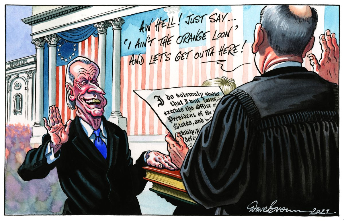 Tomorrow's @Independent cartoon... #Biden #BidenHarrisInauguration #CapitolRiots #WashingtonDC