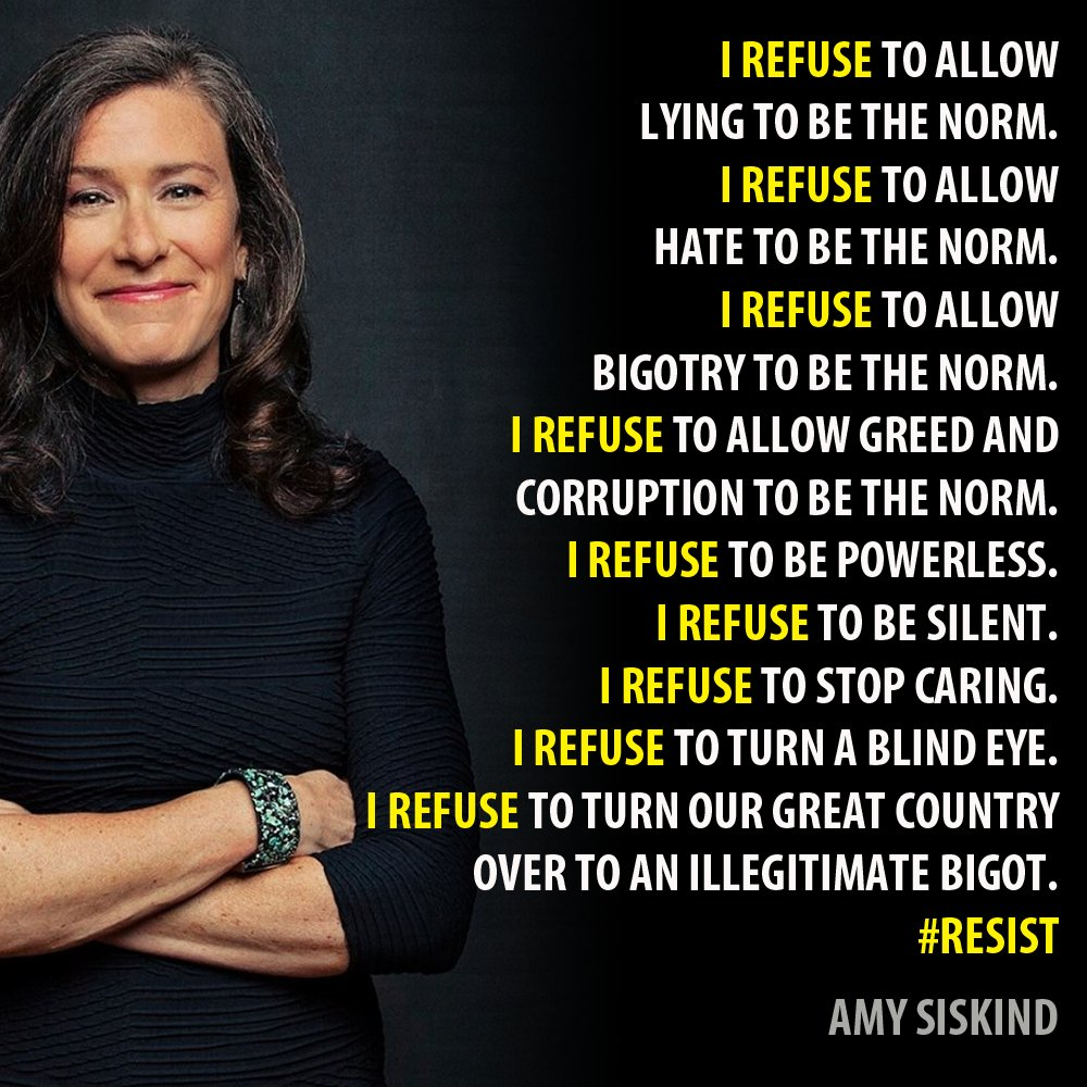 @Amy_Siskind has been an inspiration during these years and she has worked tirelessly to help end this madness.