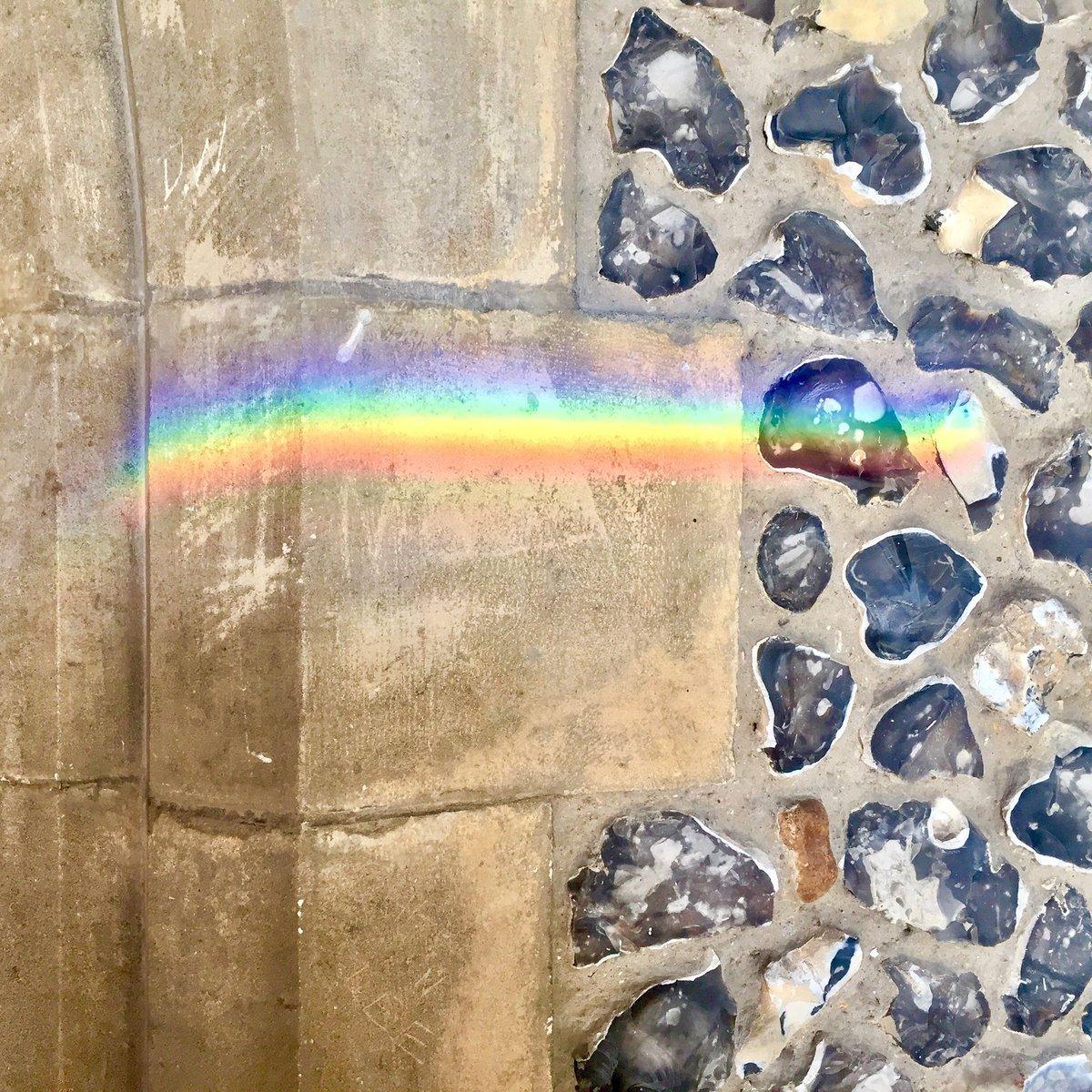 You need a drop of rain for a rainbow.  #rainbow #rain #rainbowcolours #sun #sunshine #churchporch #stmaryschurch #welwyn #stmarys #somewhereovertherainbow #nikkilewisphotography #nikkilewisphotos #hertfordshire #hertslife #village #stonewall #precious #theresalwayshope #hope