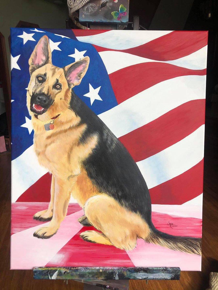 #Indoguration and #BidenHarrisInauguration vibes like: #GermanShepherd #dog #painting (yes I painted this)