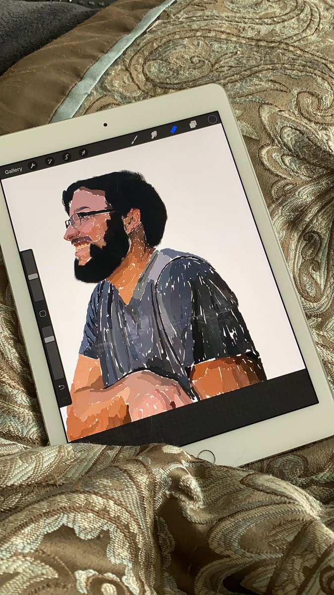 I'm working on an painting of my husband today. I'm REALLY excited #digitalart #digitalpainting #artist #ArtistOnTwitter