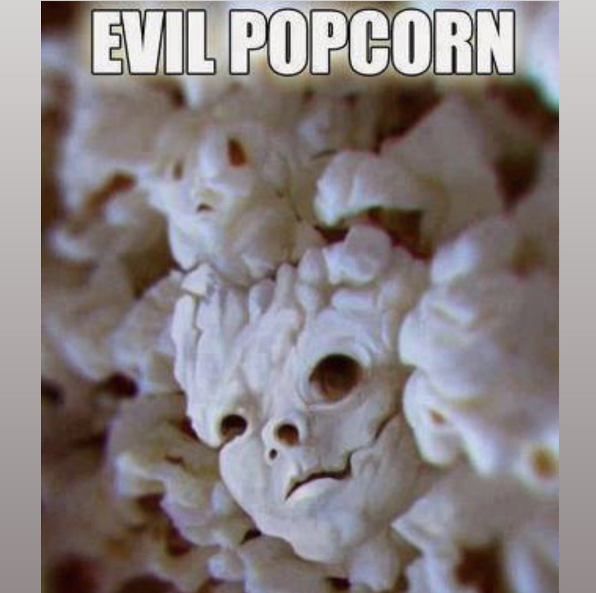 To eat, or not to eat: that is the question...   #NationalPopcornDay #horror #BloodBornMovie