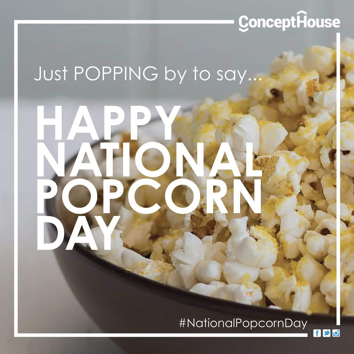 I prefer my popcorn with just a pinch salt n butter, but you can never go wrong with kettle corn either. How do you like your popcorn?  #NationalPopcornDay #tuesdayvibe  #tuesdaymood #Atlanta #graphicdesign #smallbusiness #January #digitalmarketing #marketing #marketingstrategy