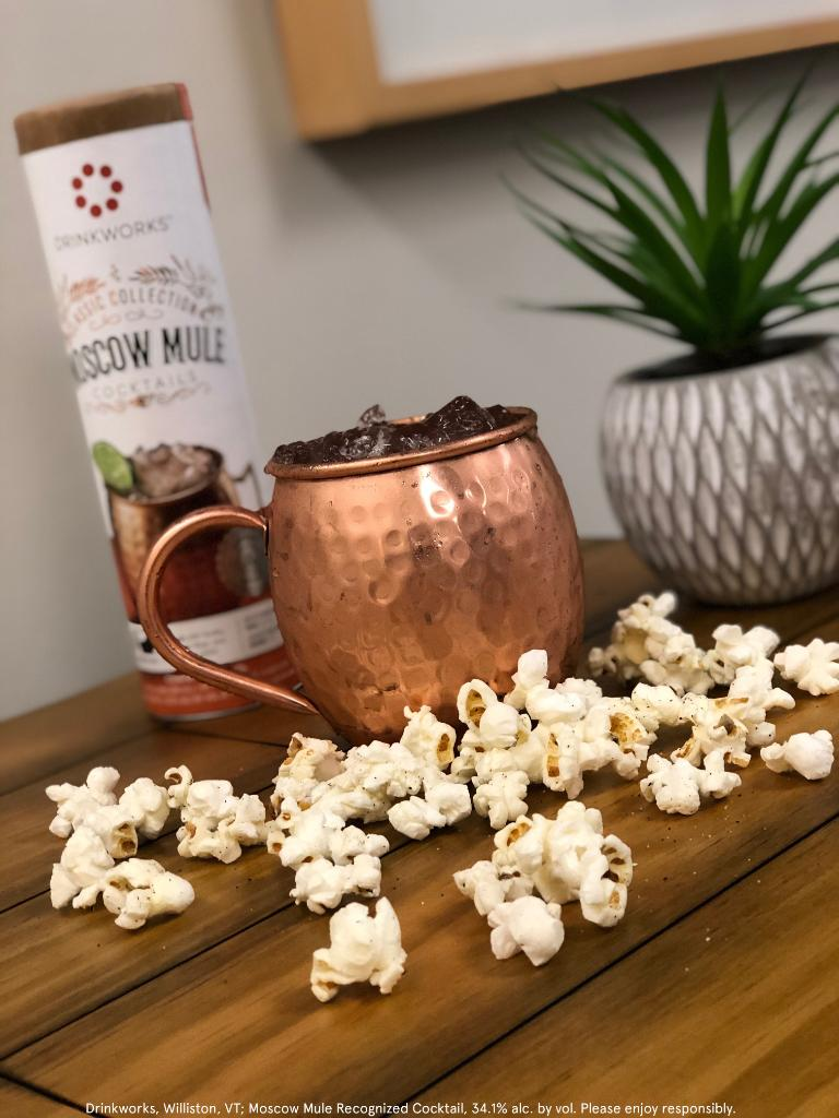 One of our most POPular cocktails is the Moscow Mule. On #NationalPopcornDay, pop in a Pod and pair it with some salty popcorn for the perfect #happyhour combination.
