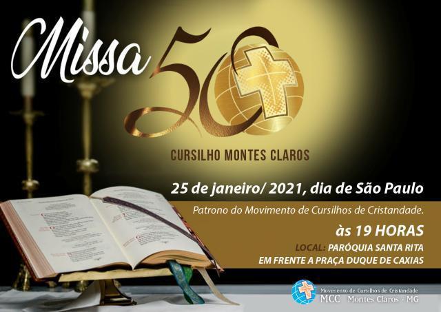 #Repost @cursilhos_ged_moc • • • •  Celebremos com fé os 50 Anos do primeiro movimento leigo presente na Arquidiocese de Montes Claros!  #50anoscursilhos #cursilhosmoc #arquimoc #missão #igrejaparticular