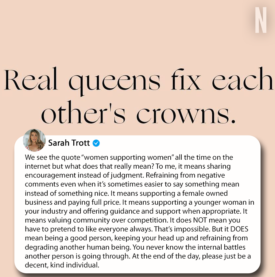 The Bachelor's Sarah Trott took to Instagram to share a message after last night's episode. #TheBachelor #BachelorNation
