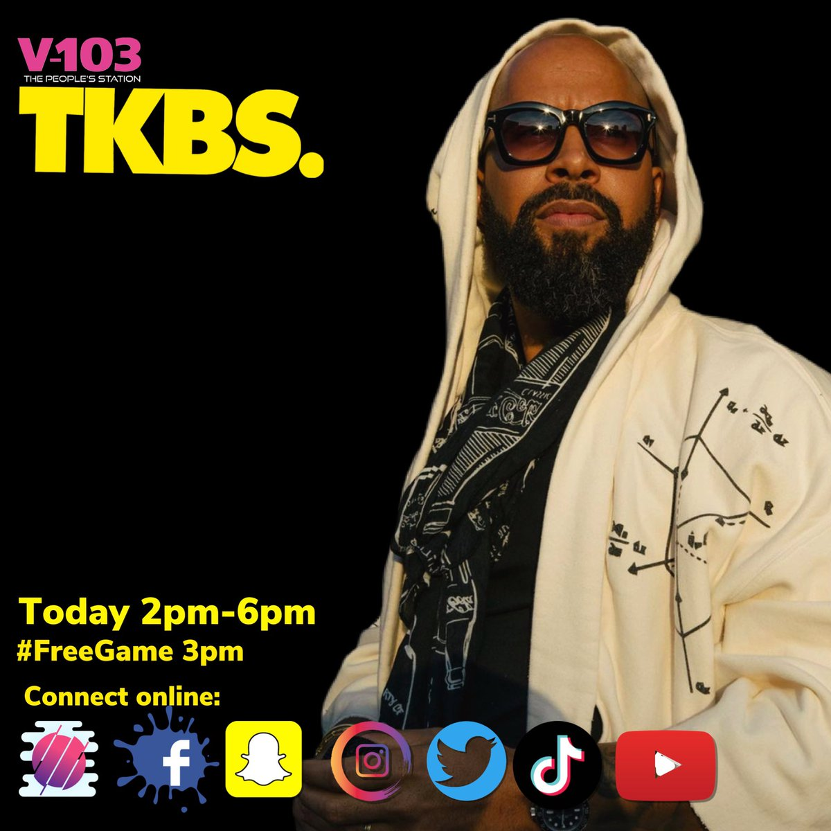 #tkbsnation it's time to tune into the HOTTEST show on radio, #TheKennyBurnsShow on @v103atlanta!  Tap in NOW for the latest in celebrity news, interviews and more!   Want some #FreeGame join the conversation at 3pm EST to ask YOUR questions to the #LifestyleSpecialist!  #TKBS
