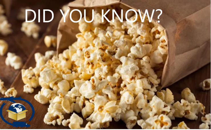 It's National Popcorn Day! 70% of popcorn consumption is done at home. This might have something to do with the fact that for every $1 spent on popcorn at the movie theatre, 90 cents is profit! #popcorn #NationalPopcornDay #movies #theatre #funfact #Facts #gpns#shippingsimplified