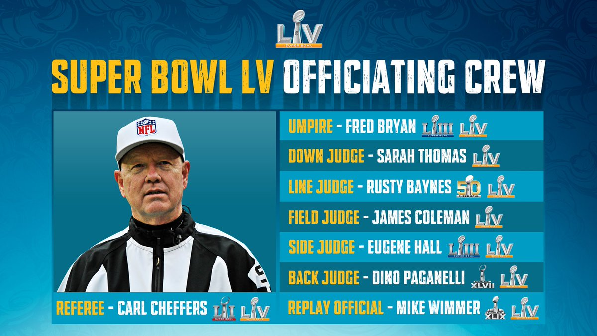 A NFL liberou a equipe de arbitragem para o Super Bowl LV.  #NFL #NFLBrasil #NFLEleven