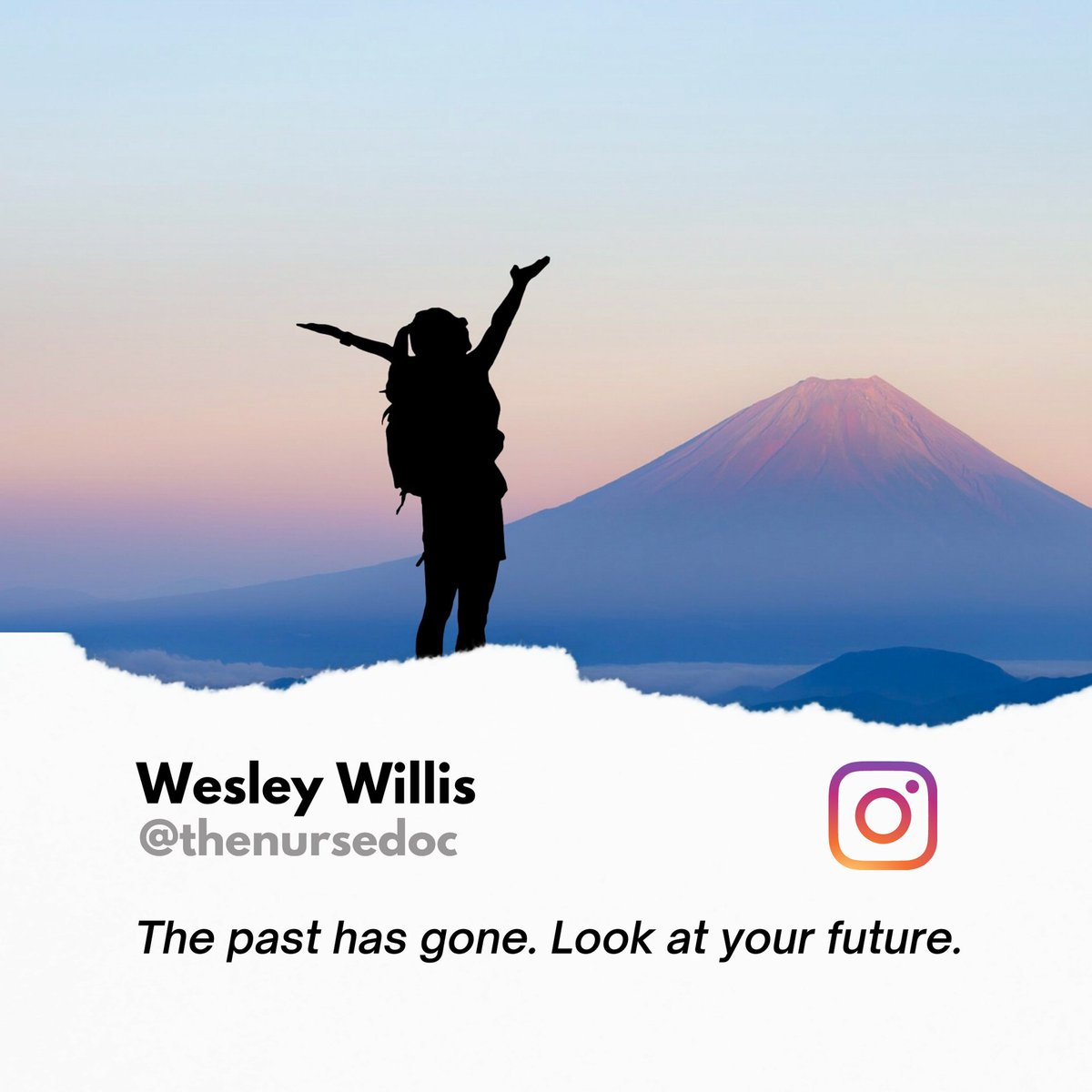 But live the present. Gather full awareness of this very moment cause it's all we have. And your future will look bright. . . . . . . #nursedoc #thenursedoc #nurse #nurselife #quotesilove #happyme #helping #healthy #wellbeing #happycouples #share #livefully
