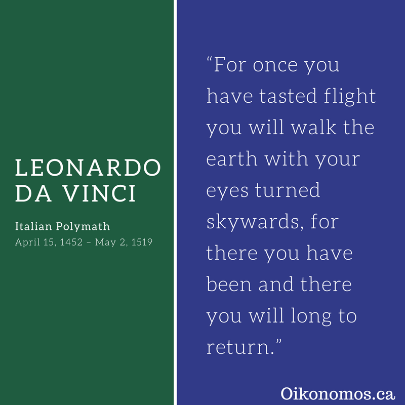 Da Vinci was a true visionary. Are your dreams big enough? #MotivationMonday #StewardsOfTimeAndResources