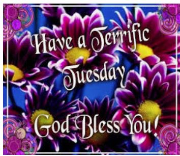 Good day! S/O #Followers #Followings #RTs #MTs Thank you for #Following, #caring & #sharing💓🧡💛💙💜🤎❤️💚🇺🇸#WearMasks #SocialDistance  #MAGA #KAG stay #focused stay #consistent stay #positive  #MaskUp save lives - #teamwork #HappyTuesday #Grace #Peace #Love ((*_*)) Best