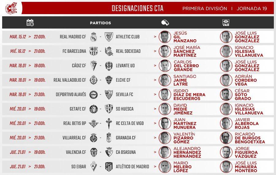 ⚖️ Medié Jiménez será el encargado de arbitrar el encuentro entre Getafe y Huesca. Iglesi....