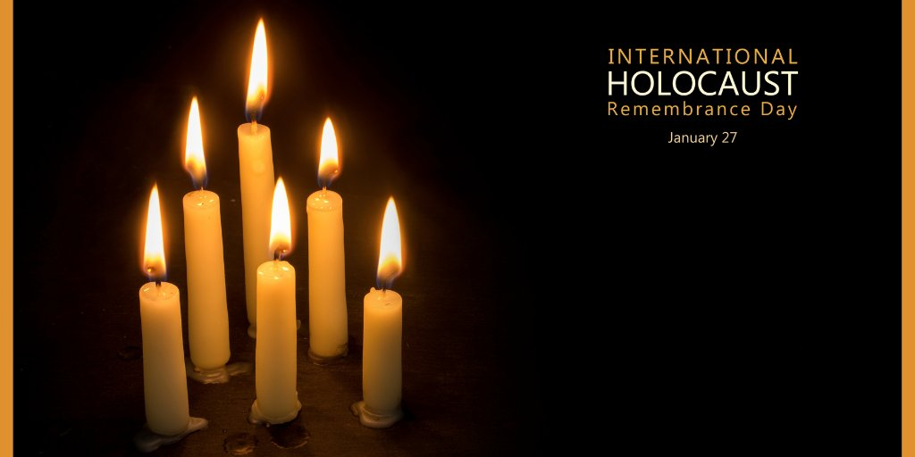 """""""On this annual day of commemoration, the UN urges every member state to honor the six million Jewish victims of the Holocaust and millions of other victims of Nazism and to develop educational programs to help prevent future genocides.""""    #WeRemember"""
