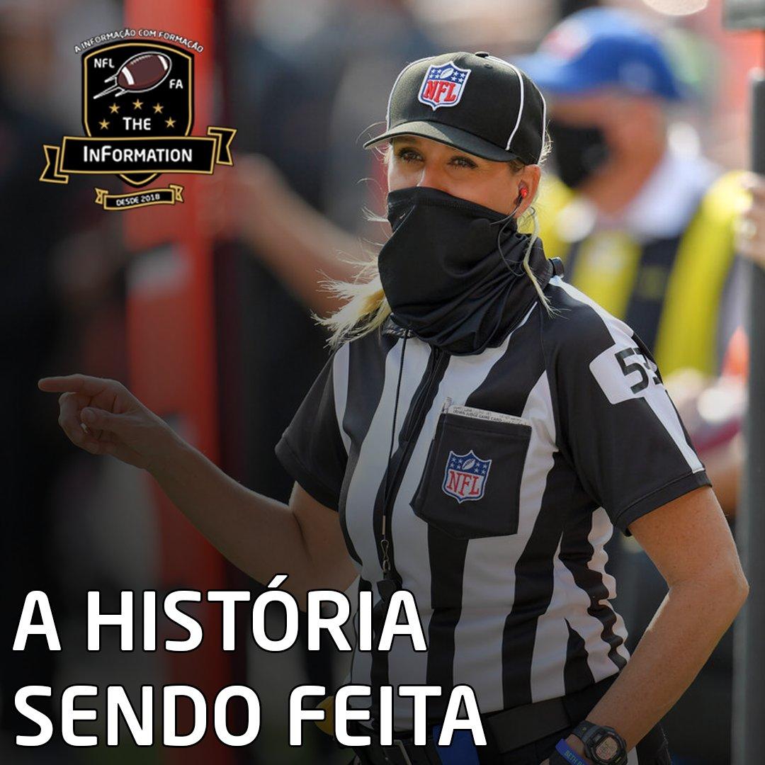 A HISTÓRIA SENDO FEITA!  A árbitra Sarah Thomas, que já foi a primeira mulher a apitar um jogo da NFL, será a primeira mulher a apitar um Super Bowl. Mais uma vez Sarah fazendo história, fazendo revolução na liga!  #NFL #NFLBrasil #NFLEleven