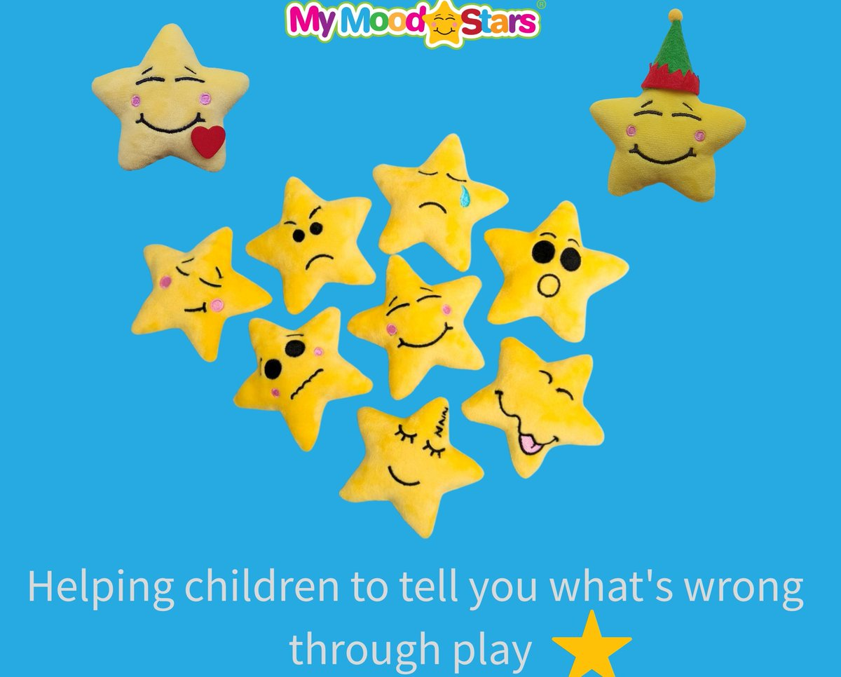 My Mood Stars help focus the minds of school children by helping them release emotional tension through play... Activity download available    #childrensmentalhealthweek2021  #edmatters2020 #MotherOfMoodStars