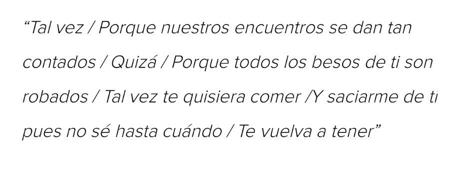 """#TalVezQuizás de la #ReinaDelPopLatino @PaulinaRubio la escribió #ArmandoManzanero para hablar sobre una relación extramarital que jamás puede darse porque una de las partes prefiere mantener su """"amor"""" solo como amantes."""