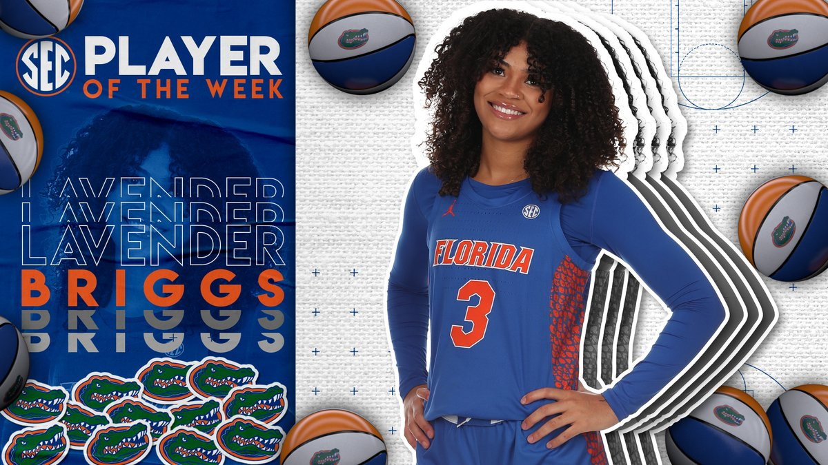 #SECWBB Player of the Week: @lavbriggs Full release » bit.ly/39LM4Ui.
