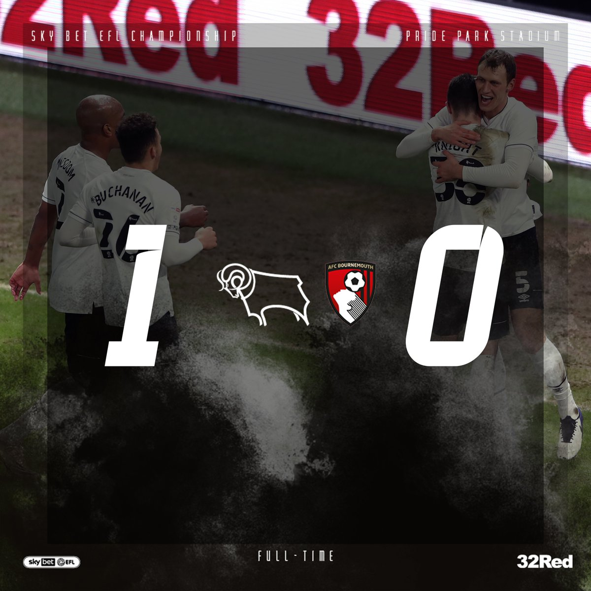 Replying to @dcfcofficial: A 𝗛𝗨𝗚𝗘 home win for the Rams! 🙌  🐏 1-0 🍒 #DCFCvAFCB