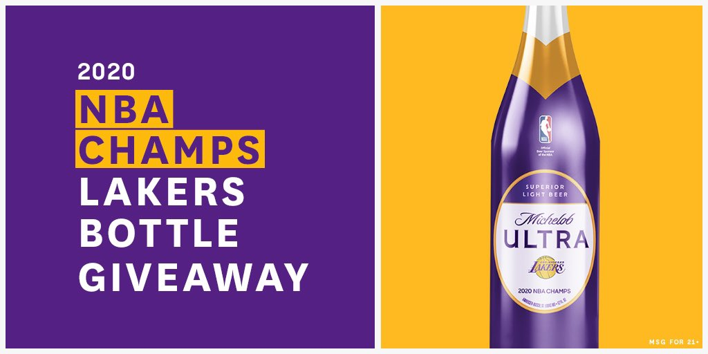 Who said the celebration is over?  We've partnered with @MichelobULTRA to gift our Lakers Fam these special-edition championship bottles for fans 21+. Comment #ChampsBottle & #Sweeps below for a chance to win.