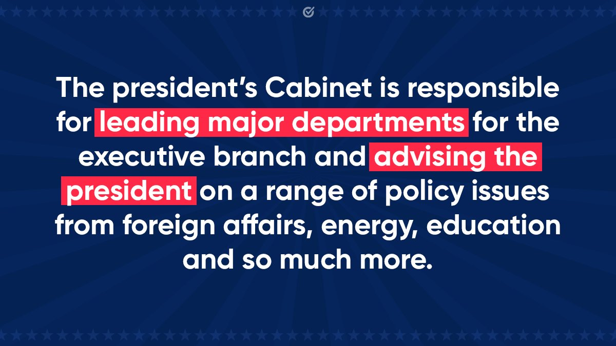 The Senate is conducting hearings to confirm President-elect Biden's Cabinet.   While we don't vote for Cabinet positions directly, we vote for the president and senators who nominate and approve them.