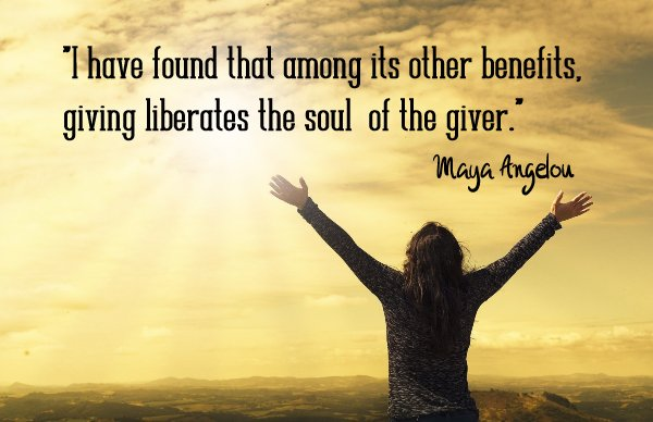 """""""I have found that among its benefits, giving liberates the soul of the giver.: - Maya Angelou  Please donate to Team Wipe Out MS and help support the 1 million Americans that living Multiple Sclerosis. Use the link before.  #GivingTuesday"""