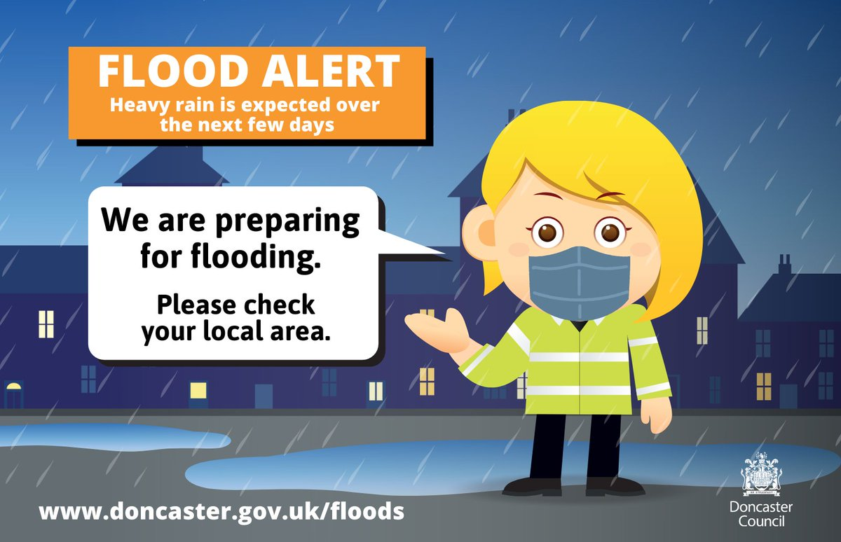 *Flooding update*  Flood Alerts have been re-issued for the Lower Don, River Idle, River Went and River Dearne.  This covers the following areas: Bawtry, Bentley, Conisborough, Clay Lane, Fishlake, Intake, Mexborough, Scawthorpe, Tickhill and Wadworth.