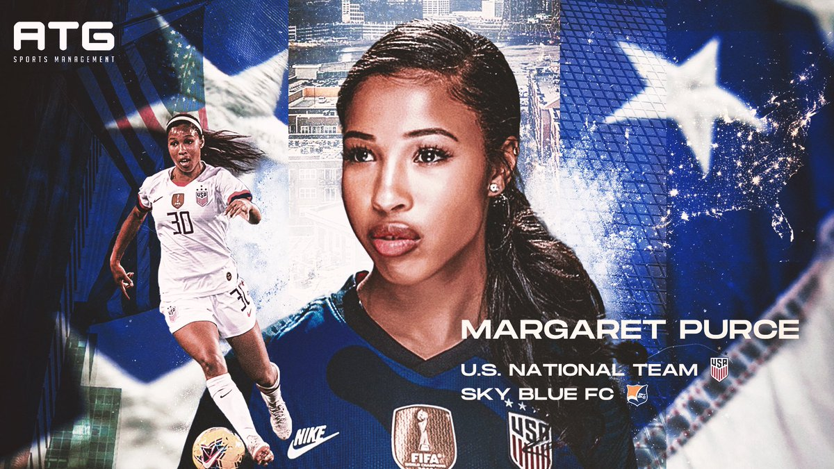 Welcome to the ATG family, @100Purcent!! We are delighted to announce that @USWNT & @SkyBlueFC's Margaret Purce is joining our ATG family. We are proud to have her as our first female athlete on our ATG roster & we are excited to be a part of her journey. 🇺🇸 ⚽️