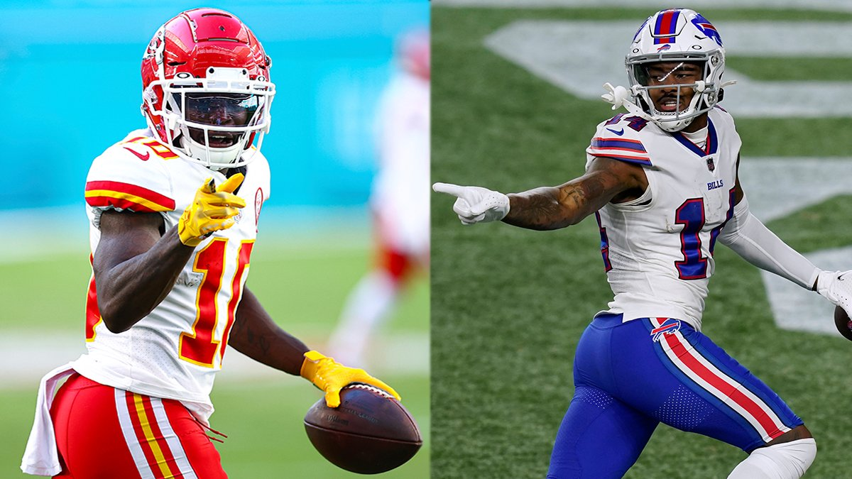.@stefondiggs & @cheetah both weren't drafted until the fifth round.  Now they're two of the top WRs in the league. 👏 #NFLPlayoffs   📺: #BUFvsKC | Sunday 6:40pm ET on CBS 📱: NFL app // Yahoo Sports app