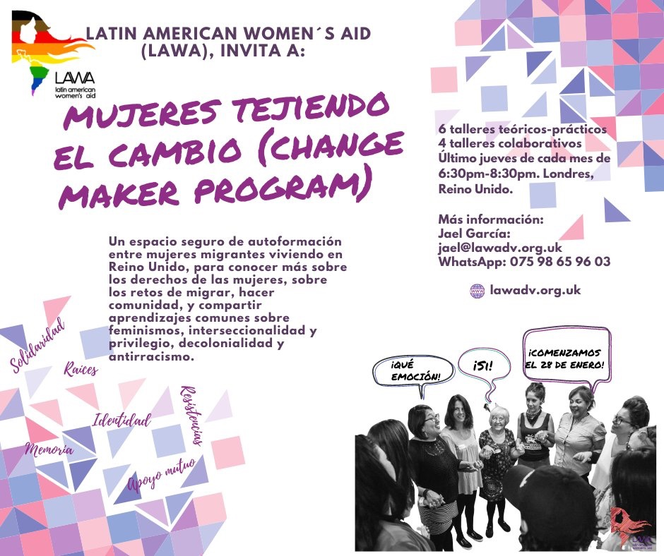 We are starting the 2021 cycle of our bespoke #community building programme!! ✊🏾💜 #ChangeMakerLAWA  When: Last Thursday of every month from Jan 28th, 6:30 pm  How: online workshops   EN ESPAÑOL | IN SPANISH  #feminismosmigrantes #empoderamientocolectivo #mujeresdecambio  📢📢📢