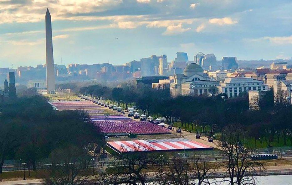 🇺🇸Ameryka się odradza pieknie to wyglada 195.000 flag 🇺🇸🇺🇸 #InaugurationDay
