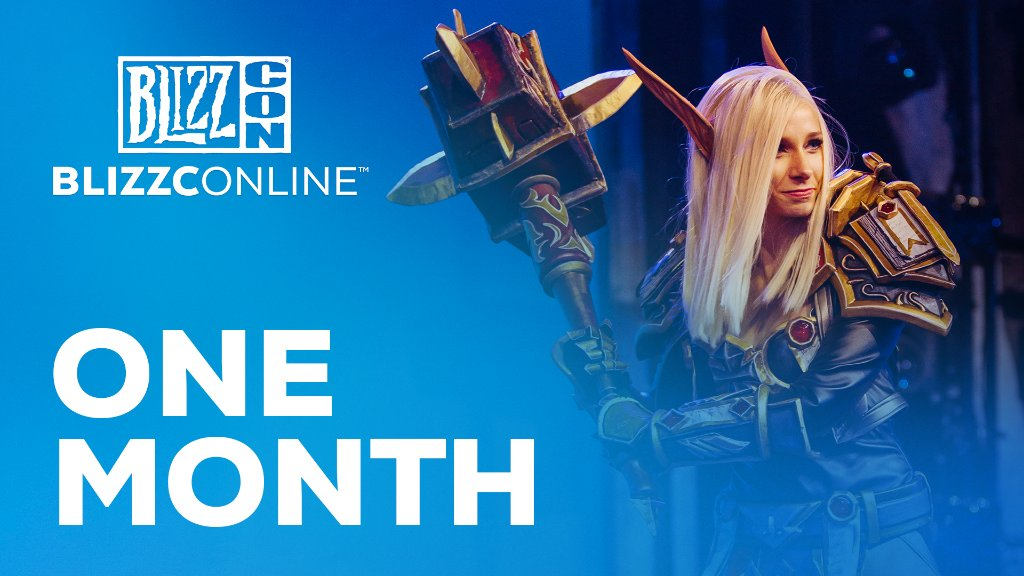 📢 One month until #BlizzConline! Enjoy the virtual festivities in our free-to-watch experience on February 19-20! Be sure to stay tuned for more details. 👀