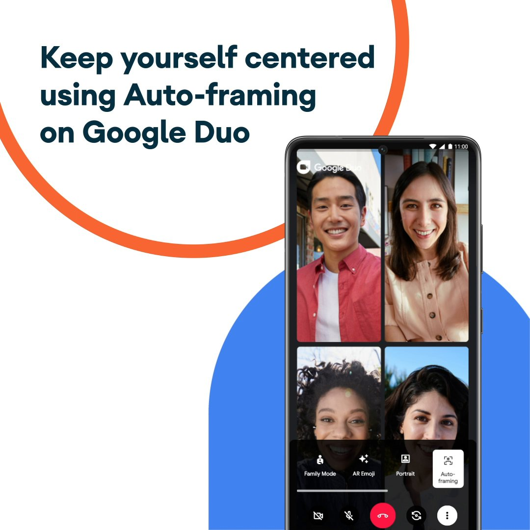 Take your video chats up a notch with Auto-framing on Google Duo, so you can look your best when catching up with the people that matter most. Available on the new #GalaxyS21.