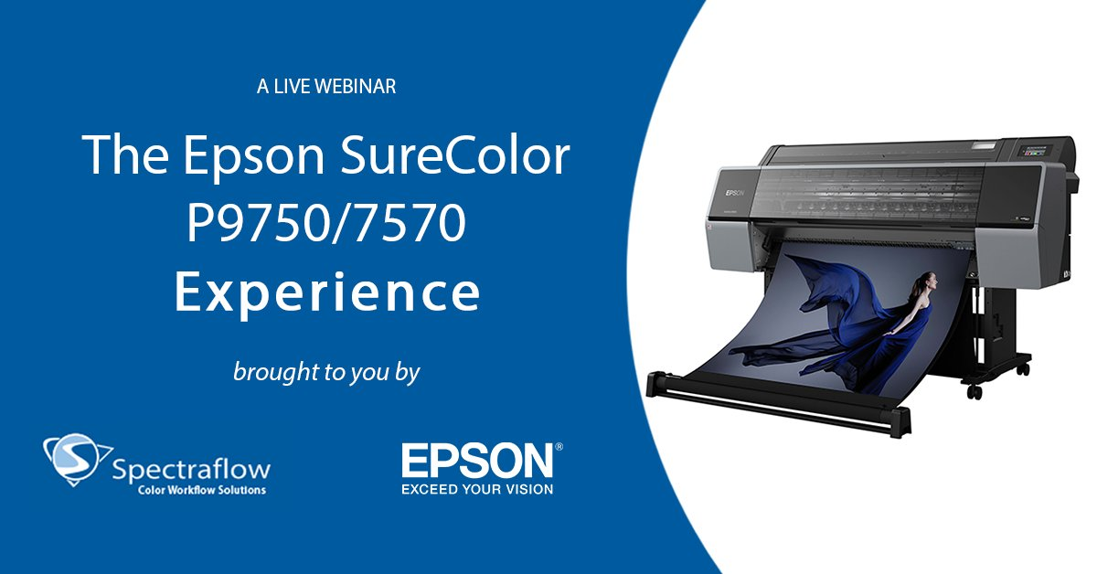 We are excited to announce we have teamed up with Spectraflow for an interactive live event showcasing the SureColor P9750/7570 wide-format photo printers! Join us Jan. 20th at 10 am PST for this virtual experience: