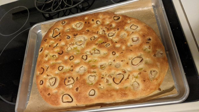I got my 00 flour & did an overnight fermentation on some focaccia dough 💕 delicious bread, it's almost