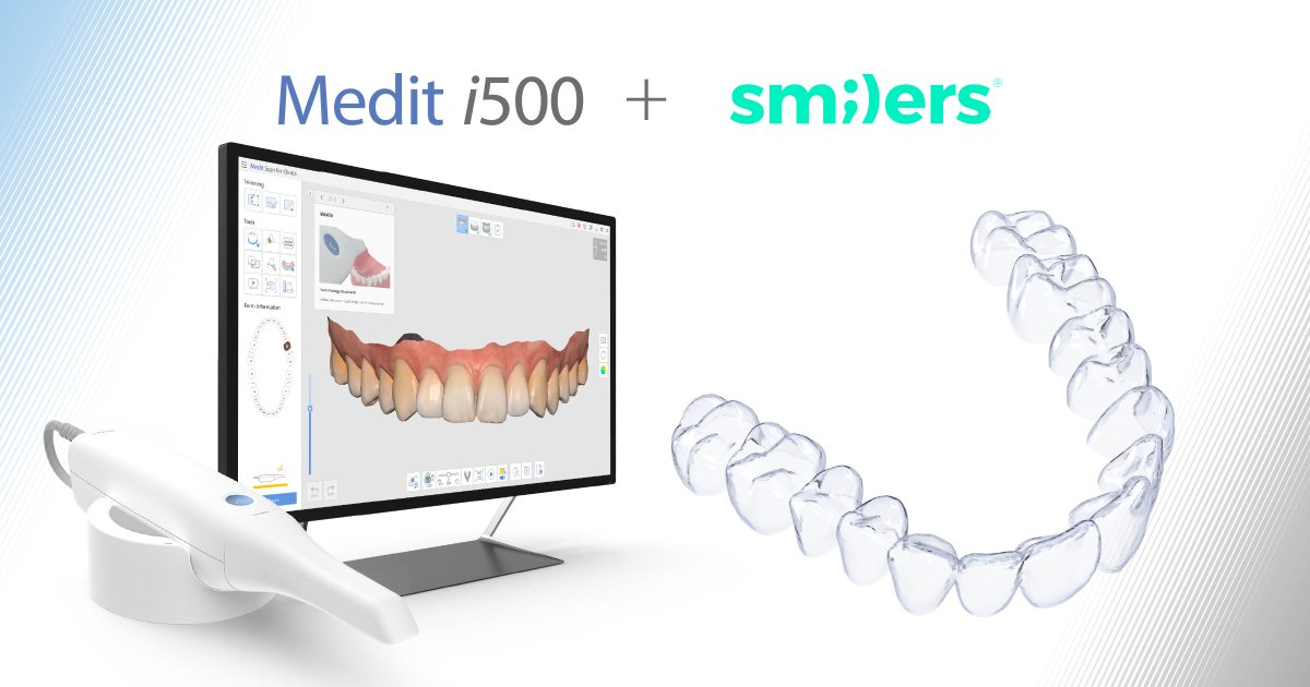 Our #Mediti500 has been validated for use with #Smilers by #Biotech Dental! These high-quality, biologically driven and affordable aligners are extremely efficient, and comes with effective hands-on training!     #clearaligners #intraoralscanner