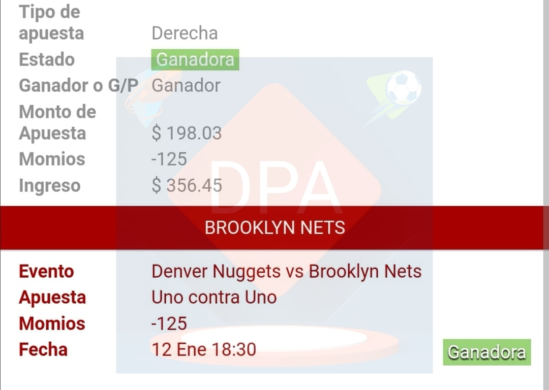Otra más que ganamos!! 🤑🤩🥳💵😁 Denver Nuggets VS Brooklyn Nets (2U) - 125 #apuestasdeportivas #DPApuestas #apuestasfutbol #dineroextra #apuestasegura #apuestaonline #ingresosextras #evidencia #ganandosinlimites #resultados #hazcrecertudinero #viral #exito https://t.co/R4hcAx4j8o