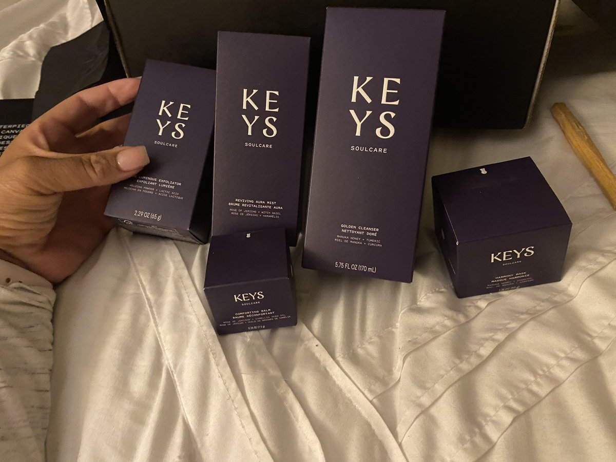 My @keyssoulcare package arrived today! Can't wait to try these new products!