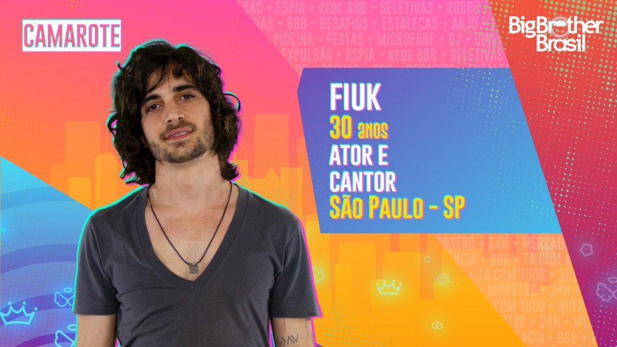 #BBB21 O último participante a fazer parte do #camarote é o cantor e ator @Fiuk. Gostou?